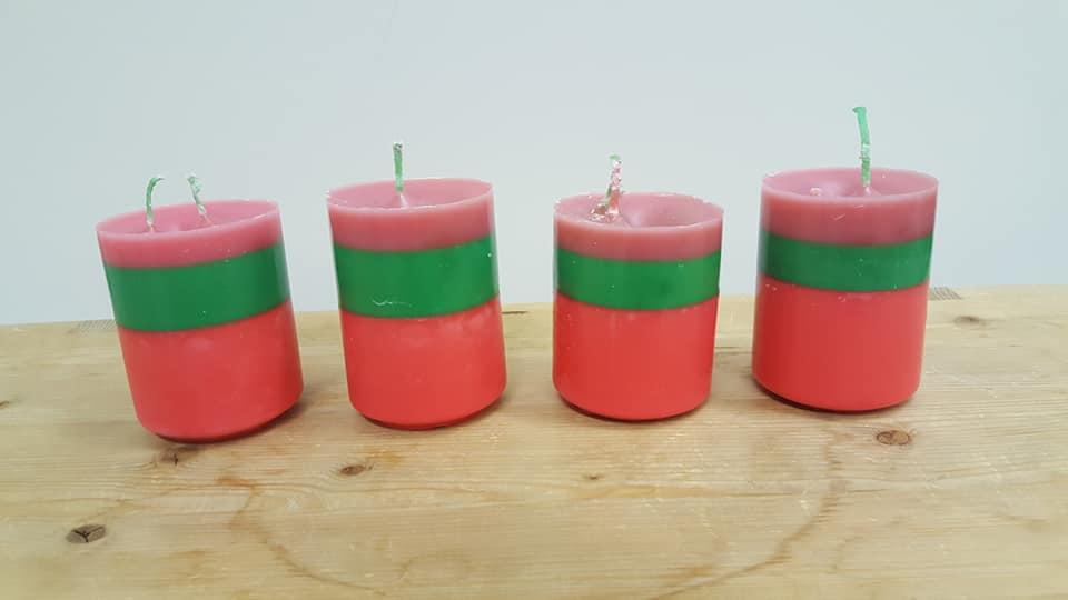 Raitakynttilät valamalla -kurssilta maanantaina, kynttilöitä voi valaa myös ma 1…